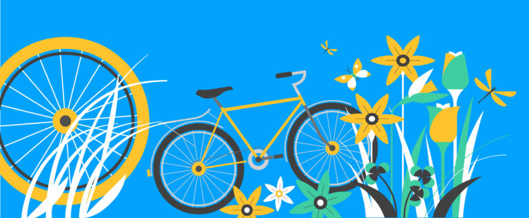 bike with flowers in may